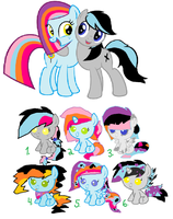 Mlp Fim-DollyXKenny adoptables 2 by cottoncloudyfilly