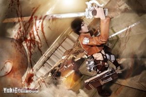 Eren Jager from Attack on Titan cosplay by yukigodbless