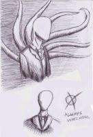 Slenderman Doodles~ by StarWarsFangirlEver