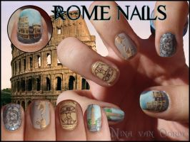 Rome nails by JawsOfKita-LoveHim