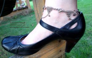 Chainmail Anklet with Wooden Beads by ulfchild