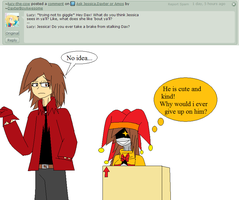 Ask The Trio: Lucys question by DaxterBoyAwesome