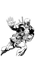 Deadpool inks by waitedesigns