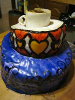 alice in wonderland cake 2 by toastles