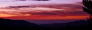 Sunset Santa Cruz Mountains by James-Bong