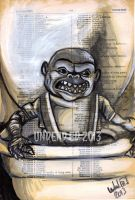 Original Dictionary Painting The Ghoulies by Undead-Art