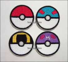 Pokeball patches by Serenity-Sama