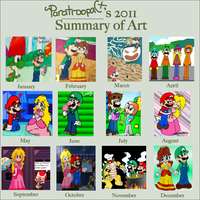 2011 Art Summary by paratroopaCx