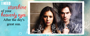 Damon And Elena Sig. Banner by me969
