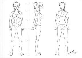 Kahoru Body Reference -WIP- by Panzerfire