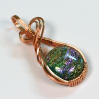 Dichroic Glass Pendant in Copper by innerdiameter