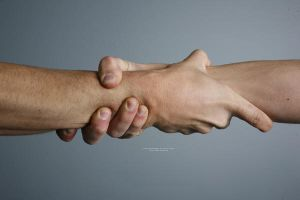 Clasped Hands by mjranum-stock