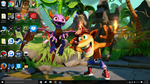 Spyro and Crash (18 and 20) Anniversary Wallpaper by sapphire3690