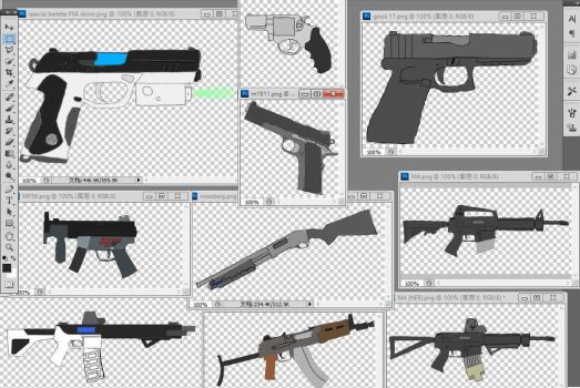 All guns that will be seen in stickpocalyse by vickersmachinegun