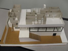 Paper Model of Villa Tugendhat 06 by Linaerlight