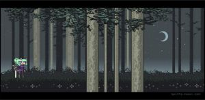 Pixel Forest by shadeykris