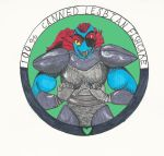 Undyne seal by RosewoodWonder