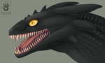 Night Fury head study by DemonML