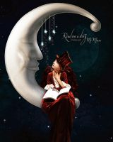 Tell me a story Mr Moon by flina