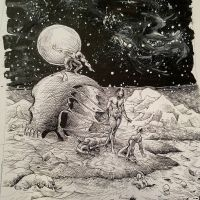 The giant and the skull by jhames34