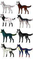 (Closed Points/Paypal) Wolf Adoptables 14 by Fells-Adopts