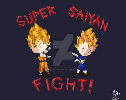 Super Saiyan Fight by CowDemonOfficial