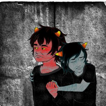 Karkat and Terezi by Barcoded88