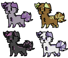 Puppy Adoptables Two |Open| by LeveButt