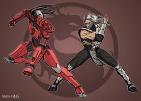 Mortal Kombat: Sektor vs Smoke by MenasLG
