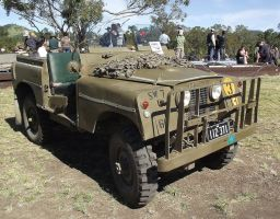 Series 1 Land Rover on display by RedtailFox