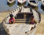 Boys and Boats (Varanasi, India) by drewhoshkiw
