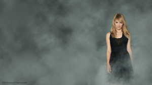 Dianna Agron Smoke Wallpaper by theusdesign