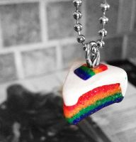 Rainbow Cake Charm by RendezvousRev