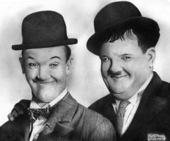 Laurel y Hardy by raulrk