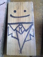 Barney the plank of wood by wolfspiritsd
