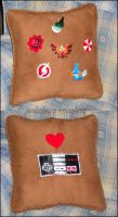 Game Logo Pillow by Natalie526