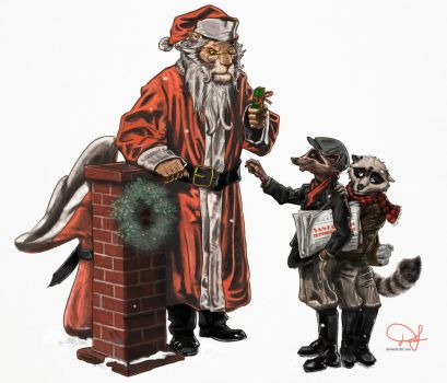 Santa Claws is Coming to Town by Defago