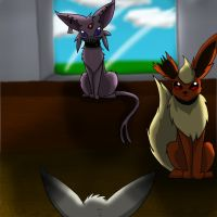 Pokefic: Shadow eevee (4) by annathewerewolf