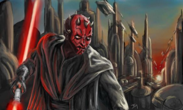 darth maul paint by abovocipher