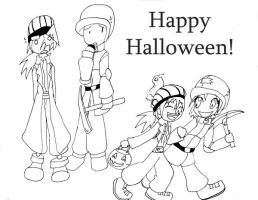 Karl and Climber Halloween by abaikgirl