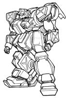 Armored Scrap Hound by clearwater-art