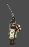 Templar Knight pose0 by Lowpoly-Workshop
