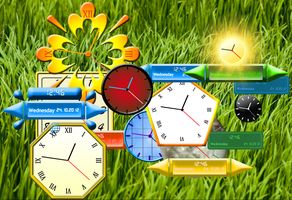 Rainmeter Clocks By Achintyagk by achintyagk