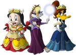 KH Toonworld - Royal Gals (COMMISSION!) by Sephiroth7734