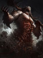 Legend of the Cryptids Demon dude ver 2 by DavidRapozaArt