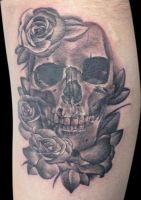 skull and rose 02 by michaelbrito