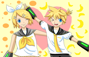 Happy Birthday Rin and Len by SisleyLovesKiro