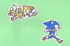 sonic and tails lol by xRosselotx