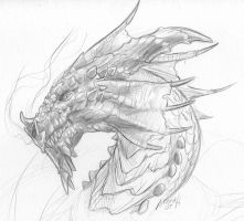 Red Dragon Sketch by Mumah