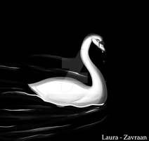 Lonely swan by zavraan